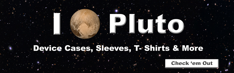 I heart Pluto designs on device cases, sleeves, T-shirts, bumper stickers and more. See them all now.